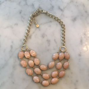 NWOT Talbots pretty bib style necklace gold plated